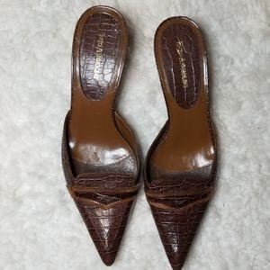Enzo Angliolini Aesusina Leather Kitten Heels